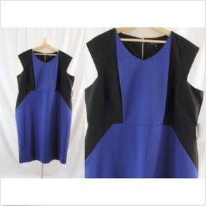 Eloquii 24 NEW Purple Color Block Sheath Dress